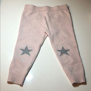 Baby Gap cotton stretch leggings light pink